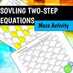 Two Step Equations Maze Activity Two Step Equations, Algebra Equations, Maze, Spice Things Up, More Fun, Worksheets, Physics, Tired, Students