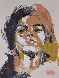 "Saatchi Online Artist: Brandi Hofer; Oil, 2012, Painting ""Pluto"""