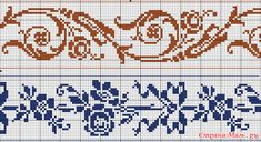 Beading _ Pattern - Motif / Earrings / Band ___ Square Sttich or Bead Loomwork ___ Cross Stitch Borders, Cross Stitch Flowers, Cross Stitch Charts, Cross Stitch Designs, Cross Stitch Patterns, Filet Crochet Charts, Crochet Borders, Knitting Charts, Quilt Stitching