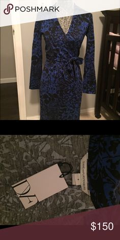 Diane Von furstenberg dress Classic wrap dress by Diane Von furstenberg. This style is perfect to accentuate your hourglass shape. Brand new with tags Diane von Furstenberg Dresses