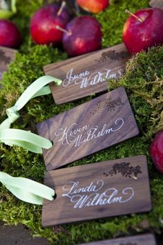 Elegant Rhode Island Wedding with Nature Theme Wedding Reception Decorations, Wedding Table, Hardwood Table, Engraving Printing, Seating Cards, Floral Event Design, Table Signs, Wedding Place Cards, Name Cards