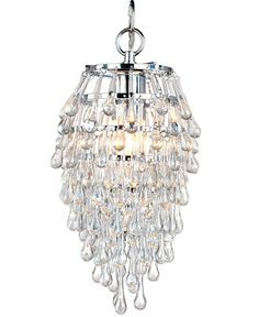 Elements Crystal Teardrop Mini Chandelier - Ceiling Lights - For The Home - Macy's