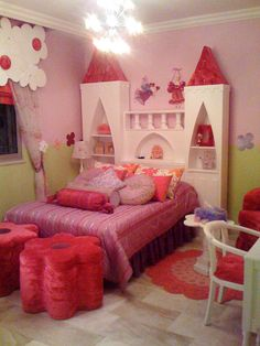 Castle Headboard for Princess Room