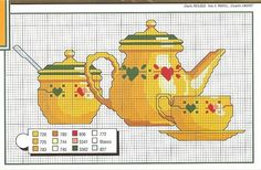 TEA POT-SUGAR BOWL-TEA CUP