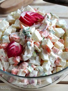Salad Dishes, Salads, Pasta Salad, Potato Salad, Potatoes, Ethnic Recipes, Food, Kitchens, Easy Meals