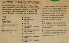 Poultry Recipes - Slimming World Recipes Slimming World Syns, Slimming World Recipes, Healthy Eating Recipes, Healthy Eats, Sauce For Grilled Chicken, Sliming World, Lemon Herb Chicken, Dinners