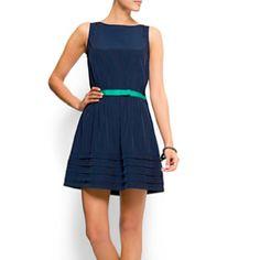 Cute Mango dress w/ green belt!