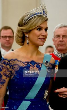 Queen Maxima of the Netherlands attends a State Banquet at Christiansborg Palace during the state visit of the King and Queen of the Netherlands on March 17, 2015 in Copenhagen, Denmark.  (Photo by Julian Parker/UK Press via Getty Images)