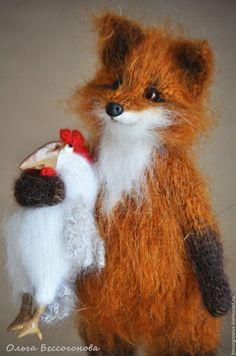Купить ДРУЖИТЬ БУДЕМ?! Лиса и петух - лиса, лиса игрушка, игрушка лиса, лис