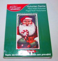 Latch Hook Kit Victorian Santa J&P Coats 25182