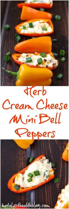 Herb Cream Cheese Mini Bell Peppers