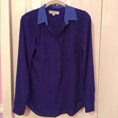 Loft colorblocked blouse Loft colorblocked blouse like new used once LOFT Tops Blouses