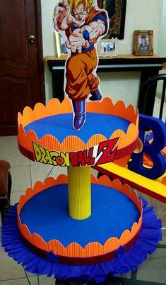 Portacupcakes Dragon Ball Goku Birthday, Naruto Birthday, Dragon Birthday, Dragon Party, Dragonball Z Cake, Ball Birthday Parties, Super Party, Ideas Para Fiestas, Dbz