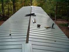 New Mobile Home Roof Over Mobile Home Pinterest