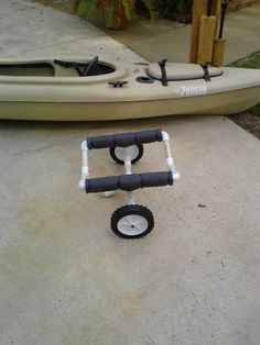 Ceiling mount for my kayak, which consists of four eye-hooks and two tow straps. This works great for storing the kayak. Top-Notch The Best Kayak Storage Rack Ideas. Kayak Fishing Tips, Kayaking Tips, Kayak Camping, Canoe And Kayak, Camping Hacks, Bass Fishing, Camping List, Camping Guide, Backpacking Tips