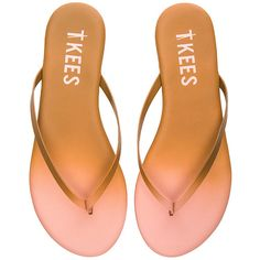 TKEES Powders Sandal (£39) ❤ liked on Polyvore featuring shoes, sandals, tkees shoes, slip on sandals, tkees, pull on shoes and tkees sandals