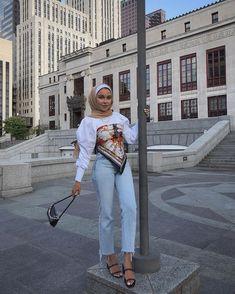 Hijab Fashion Summer, Modest Fashion Hijab, Modern Hijab Fashion, Street Hijab Fashion, Modesty Fashion, Hijab Fashion Inspiration, Muslim Fashion, Fashion Outfits, Modest Outfits