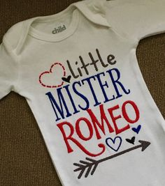 Little Mister Romeo Valentine's Day onesie/shirt by TutusByChrissy