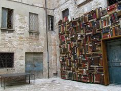 Wall of Books - pesaro by cepatri55, via Flickr