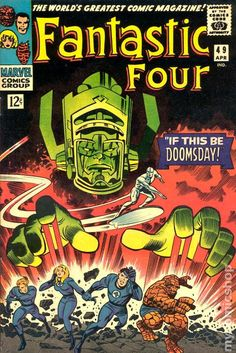 Jack Kirby - Fantastic Four 49 Part of the greatest series of cosmic stories in Marvel History Marvel Comics, Marvel Comic Books, Marvel Characters, Comic Books Art, Marvel Art, Vintage Comic Books, Vintage Comics, Comic Book Artists, Comic Artist