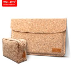 """SIKAI 100% Oak Cork bag for MacBook Air 11"""" and 13"""" Sleeve Cork pouch for Macbook Air bag case Ventilativ cover Free Charger bag #Affiliate"""