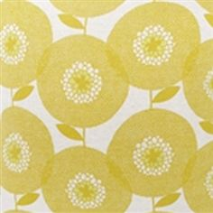 The stunning FlowerField Goldenrod fabric designed by Heather Moore for Skinny laMinx at www.theswedishfabriccompany.com