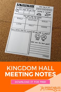 My Meeting Notes JW | JW Printables