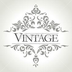 vintage vektör çerçeve — Stok İllüstrasyon #25780301