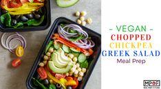 Vegan Chopped Chickpea Greek Salad Meal Prep Slow Cooker Keto Recipes, Diet Recipes, Vegetarian Recipes, Cooking Recipes, Lunch Recipes, Vegan Meal Prep, Meal Prep Bowls, Homemade Balsamic Dressing