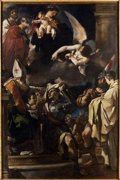 1620. Vestizione di San Giovanni d'Aquitania. Capolavoro giovanile dalla chiesa dei SS Gregorio e Siro. Pinacoteca Nazionale di Bologna