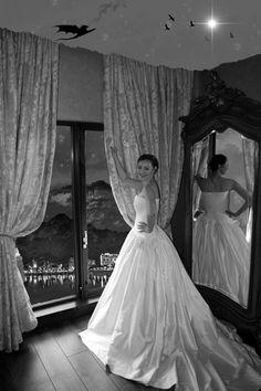 Mermaid Wedding, One Shoulder Wedding Dress, Wonderland, Wedding Photos, Weddings, Night, Gallery, Wedding Dresses, Fantasy