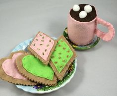 Cookies 'n Cocoa Felt Toy Play Set by ZootyDooKids on Etsy