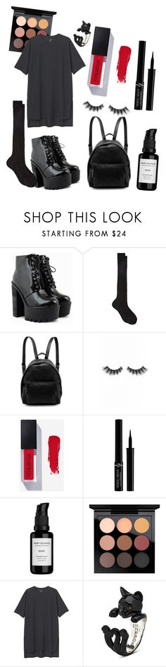 """""""Untitled #22"""" by toxicbabrbie ❤ liked on Polyvore featuring Maria La Rosa, STELLA McCARTNEY, Violet Voss, Giorgio Armani, Root Science, MAC Cosmetics and Monki"""