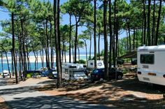 Campsite France in France travel guide www. California Beach Camping, Camping In Maine, Go Camping, Camping Stove, Camping Holiday, Camping Cabins, Luxury Camping, Camping Trailers, Camping France