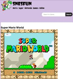Play any Super Nintendo game online! Play here.