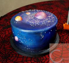 Galaxy Cake | Grooms cake is 10 inch carrot cake with cream … | Flickr