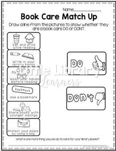 Library No Prep Printables Lower Elementary by Little Library Learners Library Plan, Library Skills, Library Lessons, Reading Skills, Library Ideas, Kindergarten Library, Elementary School Library, Elementary Schools, Book Care Lessons