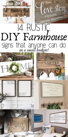 I am officially OBSESSED with these DIY Farmhouse signs! I can't believe how affordable and easy they are to make! They will look AMAZING in my bathroom, living room and even our master bedroom. If you love the fixer-upper style you HAVE TO TRY these signs, the tutorials are so easy to follow that anyone can learn how to make them. I am PINNING THIS for later!!