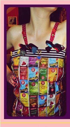 tea party top - Repurposed Fashion | Trashion | Refashion | Upcycled Fashion