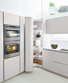 white-tall-corner-kitchen-cabinet-pantry - OutOfHome