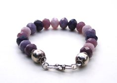 Lavender Purple Amethyst Glass Boho Sterling by MissieRabdau, $50.00