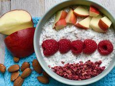 chiagrød lavet på ymer og soyadrik. Lækkert lækkert. Elsker det til min morgenmad eller som mellemmåltid...