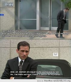 "He explained the importance of equality. | Community Post: 82 Reasons Why ""The Office's"" Michael Scott Was The World's Best Boss"