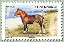 Le cob normand Chevaux de trait de nos régions - Timbre de 2013