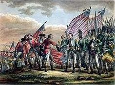 The battle of Saratoga, August- October 1777. The British are harrassed by colonial guerilla force and end up stretching their supply lines. Significance: Saratoga is considered the turning point of the war.
