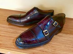 "dd78dc63c0eb MURAT ERBAS ® on Instagram  ""Norwegian Goodyear Welted Genuine Crocodile  Leather Double Monkstraps To See ME Shoes 👉  muraterbashoes To Buy ME Shoes  👉…"""
