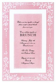 Counterpane Pink Invitation