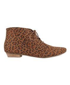 leopard print suedette boots