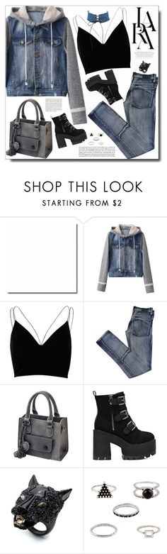 """""""Feel Nothing"""" by itshandra ❤ liked on Polyvore featuring River Island, Cheap Monday, Lara, Alexis Bittar and vintage"""