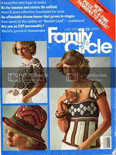 Anything Knitted and Crocheted: Family Circle-July 1975 ideas (image heavy) Crochet Stitches, Knit Crochet, Superman 1, Cat Patch, Amber Alert, Family Circle, Stitch Markers, Loom Knitting, Bag Making